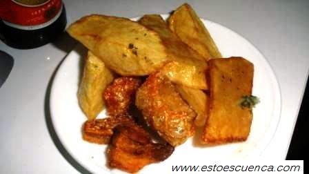 Las famosas patatas de El Roco.
